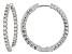 Pre-Owned Moissanite 14k White Gold Hoop Earrings 1.74ctw DEW.