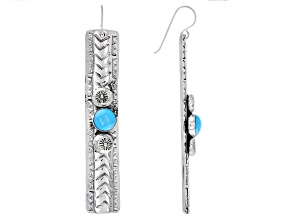 Pre-Owned Sleeping Beauty Turquoise Silver Dangle Earrings