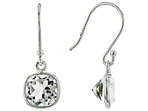 Pre-Owned  Prasiolite Rhodium Over Silver Earrings 2.75ctw