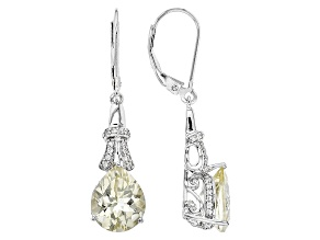 Pre-Owned Yellow Labradorite Sterling Silver Dangle Earrings 5.05ctw