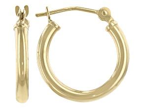 Pre-Owned 14K Yellow Gold 15MM Hoop Earrings
