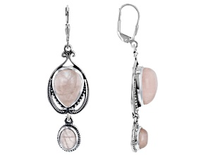 Pre-Owned Rose quartz Sterling Silver Earrings