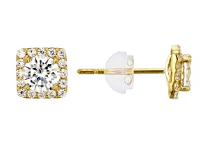 Pre-Owned Bella Luce ® 1.15ctw Round 14k Yellow Gold Earrings