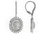 Pre-Owned White Cubic Zirconia Rhodium Over Sterling Silver Earrings 6.73ctw