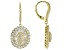 Pre-Owned White Cubic Zirconia 18k Yellow Gold Over Sterling Silver Earrings 6.73ctw