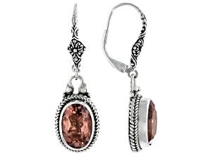 Pre-Owned Always True Rose™ Mystic Quartz® Silver Earrings  5.96ctw