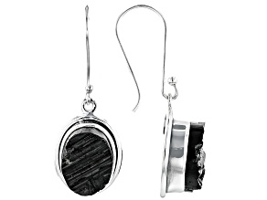 Pre-Owned Artisan Collection Of India™ Rough Black Tourmaline Sterling Silver Earrings