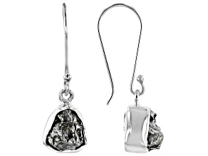 Pre-Owned Artisan Collection Of India™ Free Form Meteorite Sterling Silver Earrings