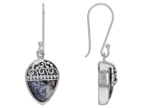 Pre-Owned Artisan Collection Of India™ Pear Shape Dendritic Opal Sterling Silver Earrings