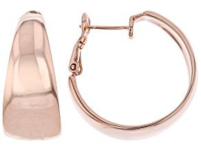 Pre-Owned High Polished Copper Hoop Earrings
