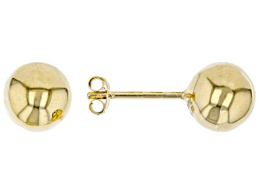 Pre-Owned 10K Yellow Gold 8MM Polished Stud Earrings. Earrings have push back posts, made in Turkey.