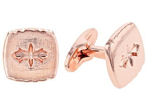 Pre-Owned Copper Textured Cufflinks