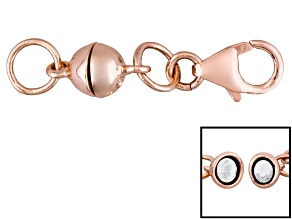 Pre-Owned Magnetic Clasp Converter 18k Rose Gold Over Sterling Silver