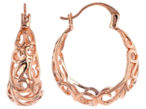 Pre-Owned Copper Hoop Earrings