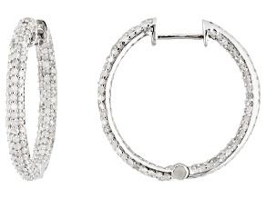 Pre-Owned Diamond Sterling Silver Earrings 1.65ctw