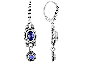 Pre-Owned Tanzanite Sterling Silver Dangle Earrings 1.32ctw