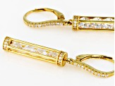 Pre-Owned White Cubic Zirconia 18k Yellow Gold Over Sterling Silver Earrings 6.67ctw