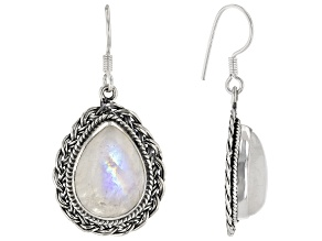 Pre-Owned Rainbow Moonstone Sterling Silver Earrings