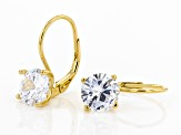 Pre-Owned White Cubic Zirconia 18k Yellow Gold Over Sterling Silver Earrings 7.40ctw