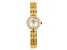 Pre-Owned White Cubic Zirconia 18K Yellow Gold Over Brass Ladies Wrist Watch 1.45ctw