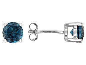 Pre-Owned London Blue Topaz Sterling Silver Stud Earrings 1.86ctw