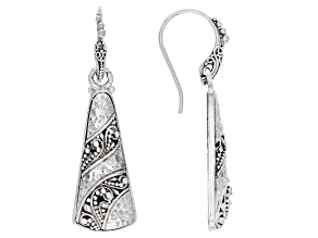 "Pre-Owned Sterling Silver ""Starts From Within"" Dangle Earrings"