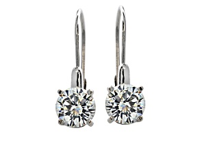 Pre-Owned Bella Luce ® 4.35ctw Rhodium Over Sterling Silver Earrings
