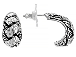 "Pre-Owned Sterling Silver ""Perseverance"" Stud Earrings"