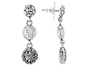 "Pre-Owned Sterling Silver ""Promises"" Dangle Earrings"