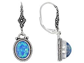 Pre-Owned Twilight Opal Doublet Sterling Silver Earrings