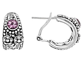 Pre-Owned Pink Sonic Pink™ Mystic Quartz® Silver Earrings 0.76ctw