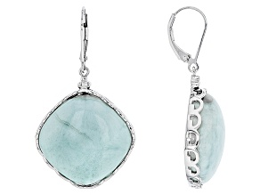 Pre-Owned Blue Larimar Sterling Silver Dangle Earrings