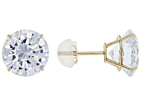 Pre-Owned White Cubic Zirconia 10k Yellow Gold Earrings 9.00ctw