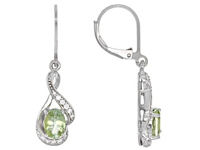 Pre-Owned Green Amblygonite Sterling Silver Earrings 1.53ctw