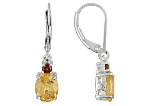 Pre-Owned Golden Hessonite Garnet Sterling Silver Dangle Earrings 2.83ctw