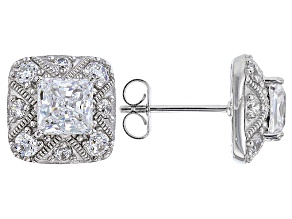 Pre-Owned White Cubic Zirconia Platineve Earrings 4.17ctw