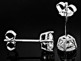Pre-Owned White Cubic Zirconia Rhodium Over Sterling Silver Stud Earrings 1.65ctw