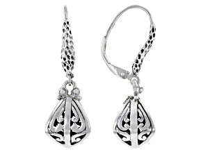 """Pre-Owned Sterling Silver """"Attitude of Gratitude"""" Earrings"""
