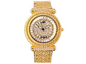 Pre-Owned Adee Kaye Beverly Hills Crystal Yellow Watch.