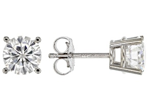Pre-Owned Moissanite Fire® 1.60ctw Diamond Equivalent Weight Round 14k White Gold Stud Earrings