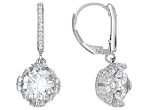 Pre-Owned Cubic Zirconia Platineve Earrings 7.06ctw (4.78ctw DEW)