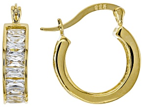 Pre-Owned Cubic Zirconia 14k Yellow Gold Over Silver Earrings 4.80ctw