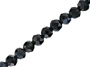 Pre-Owned Blue-Black Sapphire 2mm Faceted Rondelle Bead Strand Appx 18""