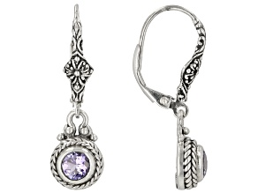 Pre-Owned Blue Tanzanite Sterling Silver Dangle Earrings .90ctw