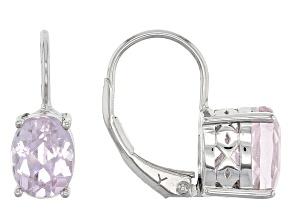 Pre-Owned Pink Kunzite Sterling Silver Earrings 2.95ctw