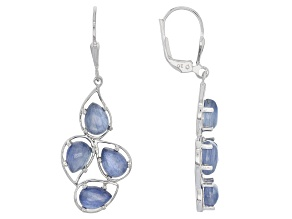 Pre-Owned Blue Kyanite Sterling Silver Dangle Earrings