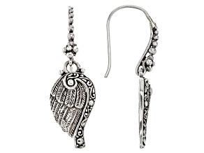 Pre-Owned Sterling Silver Angel Wing Earrings