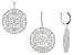 Pre-Owned White Cubic Zirconia Rhodium Over Sterling Silver Earrings And Pendant With Chain 17.85ctw