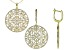 Pre-Owned White Cubic Zirconia 18K Yellow gold Over Silver Earrings And Pendant With Chain 17.85ctw