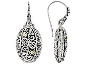 Pre-Owned Sterling Silver And 18k Gold Accent Earrings